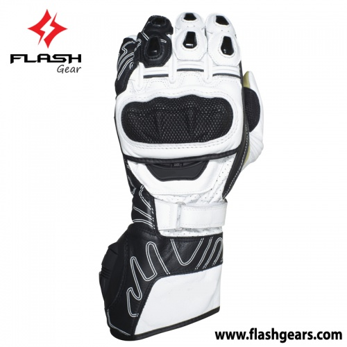 Flash Gear Leather Race Gloves