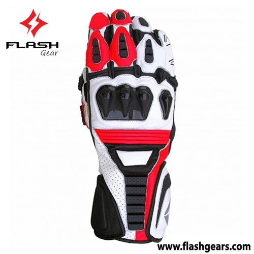 Flash Gear Red,white Race Gloves